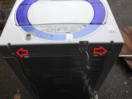 ES-T705洗濯機洗濯層の清掃