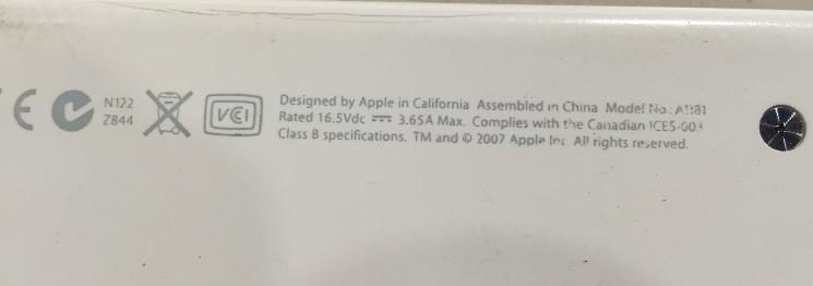 マックブックMacBook [A1181] ハードディスク交換 メモリ交換方法