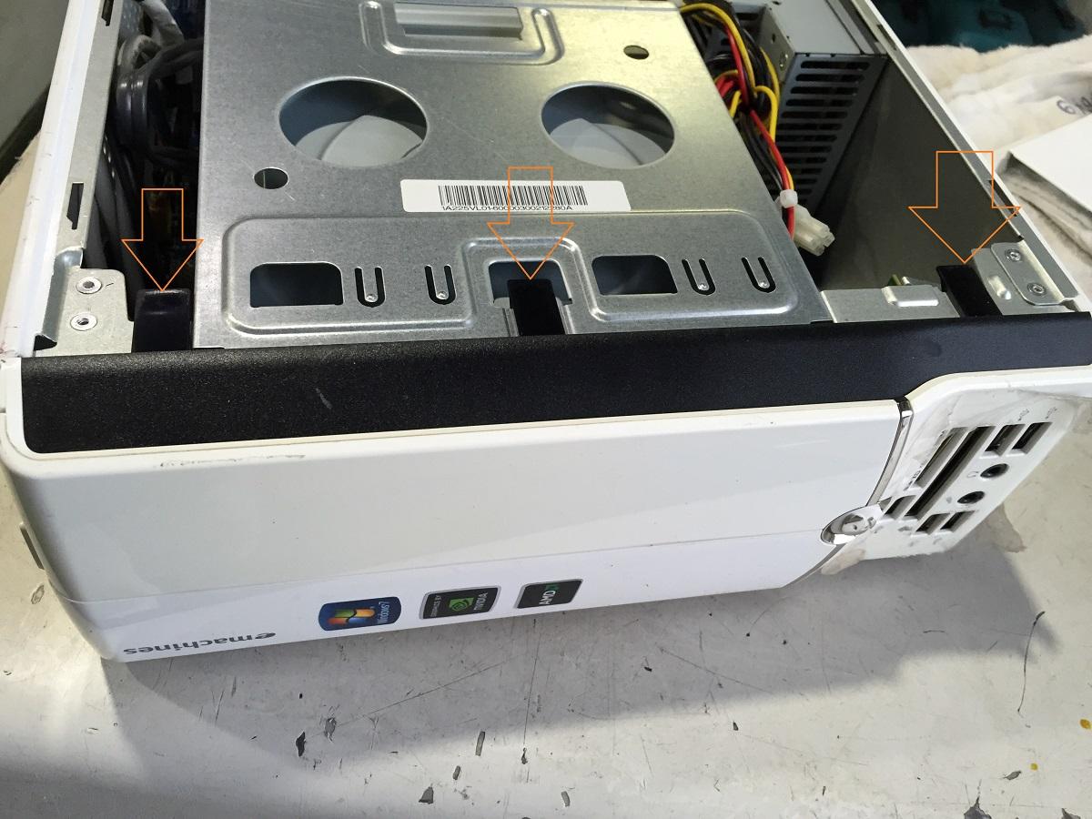 eMachines(EL1332)デスクトップPC分解 ハードディスク、メモリ交換方法