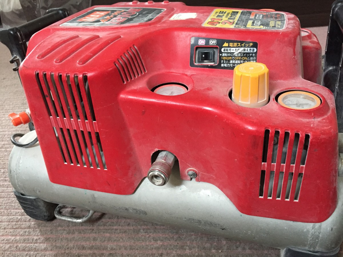 マックス(max) 1210E エアコンプレッサー 分解 エア漏れ修理