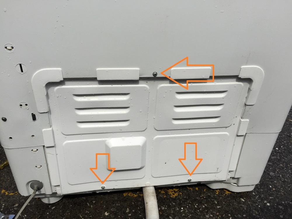 ナショナル(NA-W40G1)二層式洗濯機の分解 異音修理