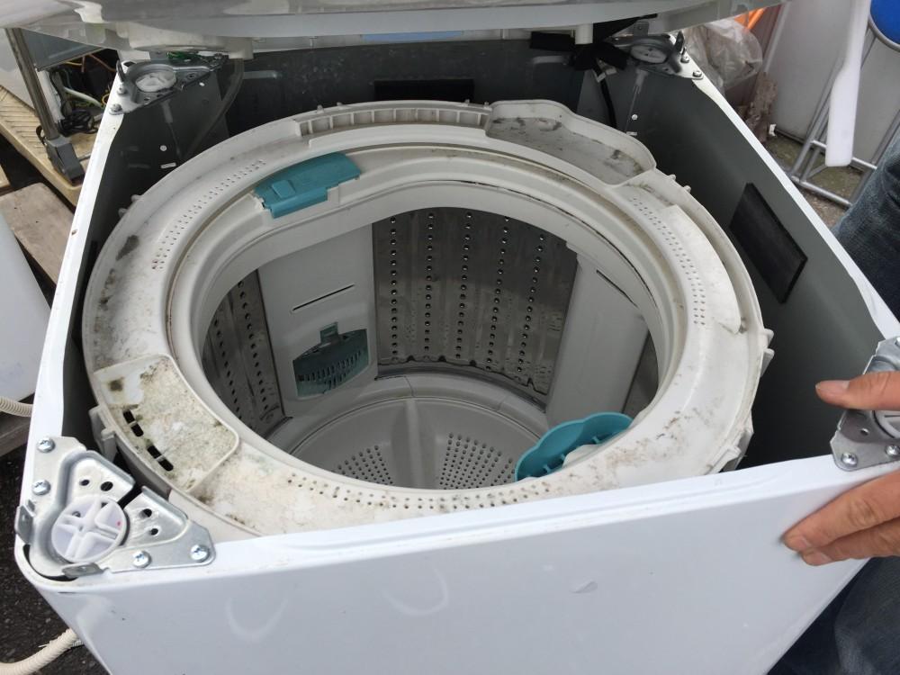 【日立洗濯機 NW-7MY】分解 洗濯層の掃除