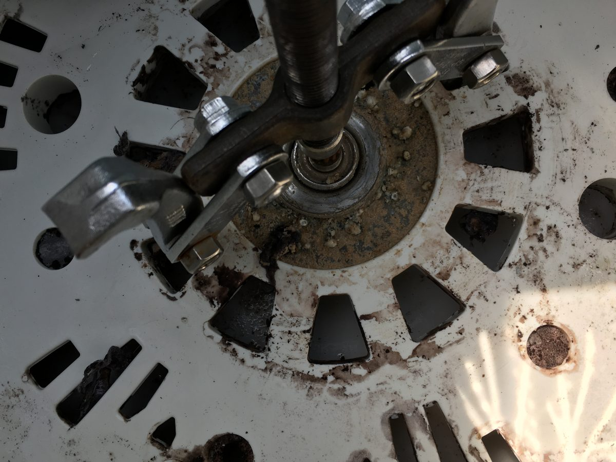 日立 8.0kg 洗濯機(NW-R801)洗濯槽の清掃、分解、取外し