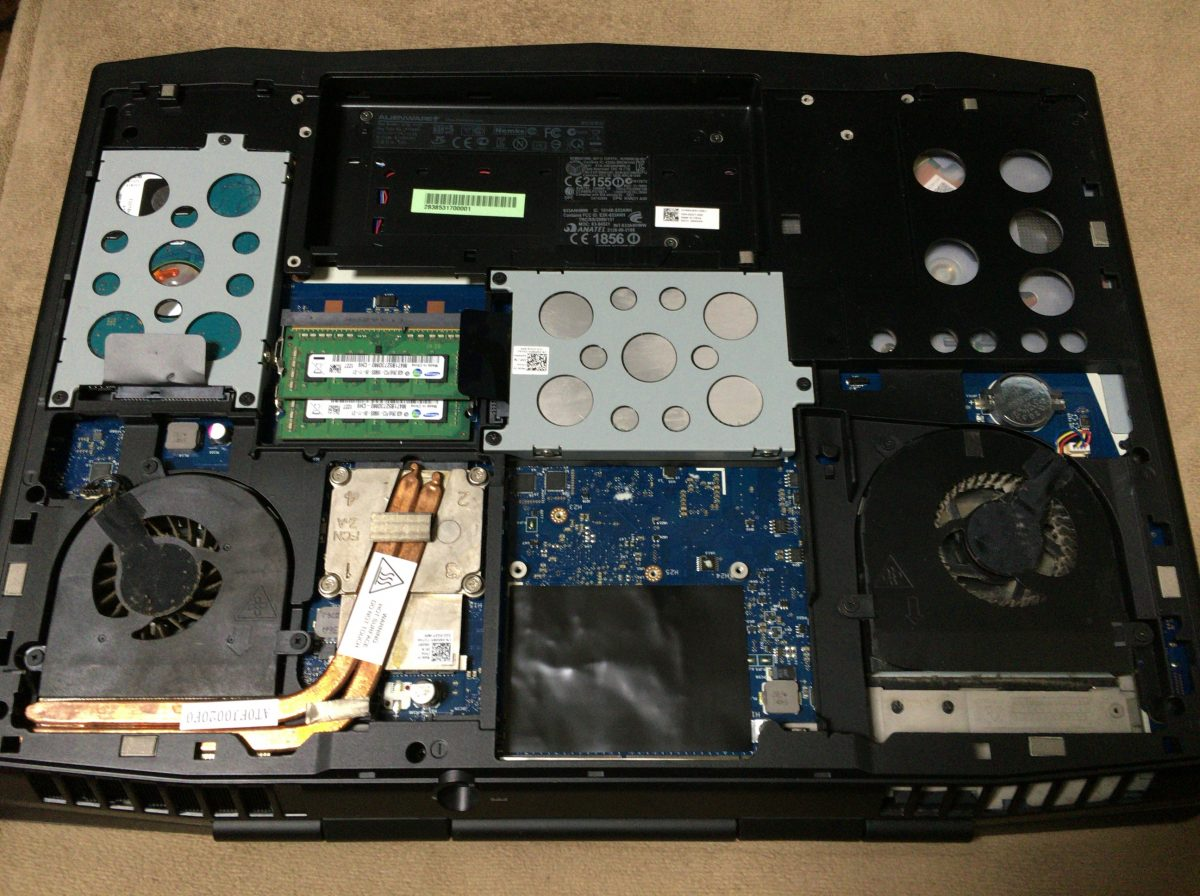 DELL ALIENWARE 17 R3 グラボ(ビデオカードGPU)の交換方法