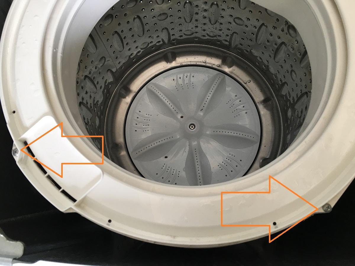 【家庭でも簡単】サンヨー6.0kg洗濯機(ASW-60B)分解と洗濯槽の清掃