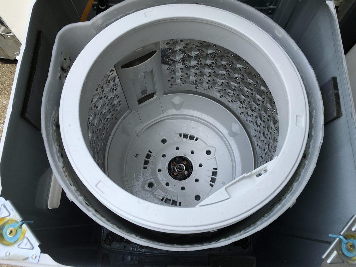 東芝7.0kg洗濯機(AW-707)家庭でも簡単にできる、洗濯槽の掃除の方法