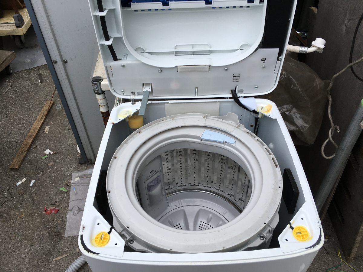 ハイアール4.2kg洗濯機(JW-K42F)分解と洗濯槽を掃除する方法