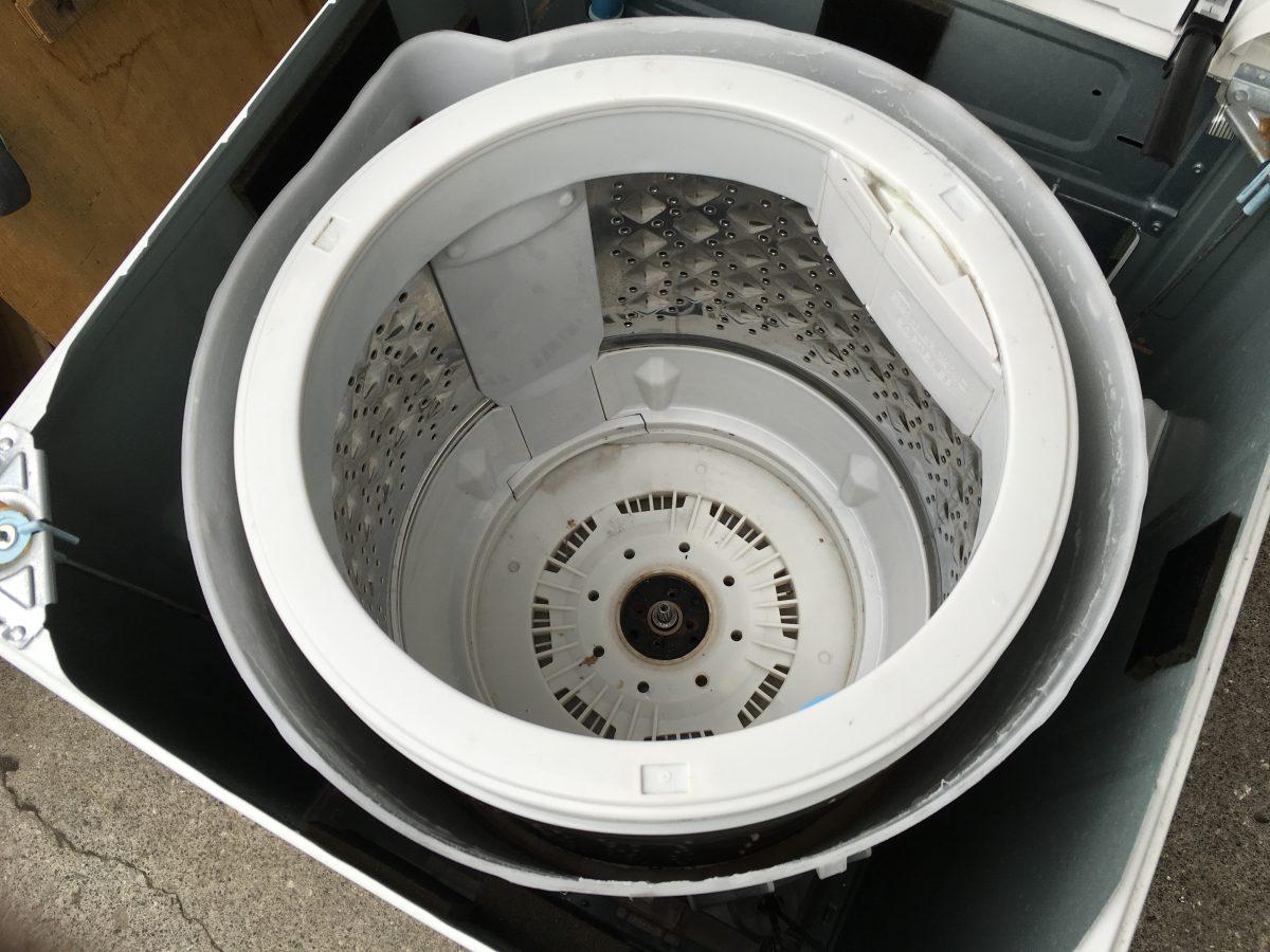 東芝洗濯機(AW-50GK)の分解と、DIYでもできる!洗濯槽の掃除の方法