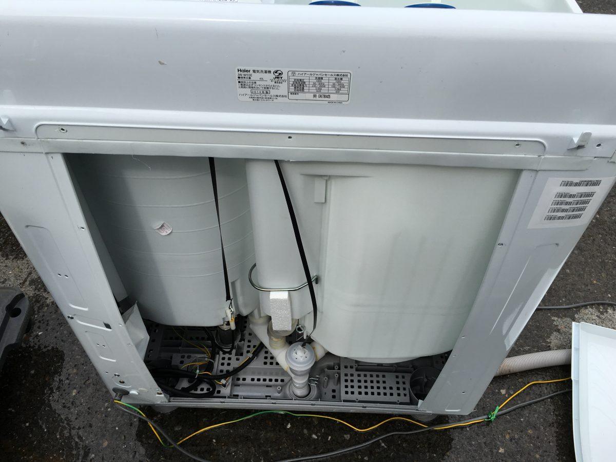 【排水が出来ない症状】ハイアール2槽式洗濯機(JW-W55E)分解修理