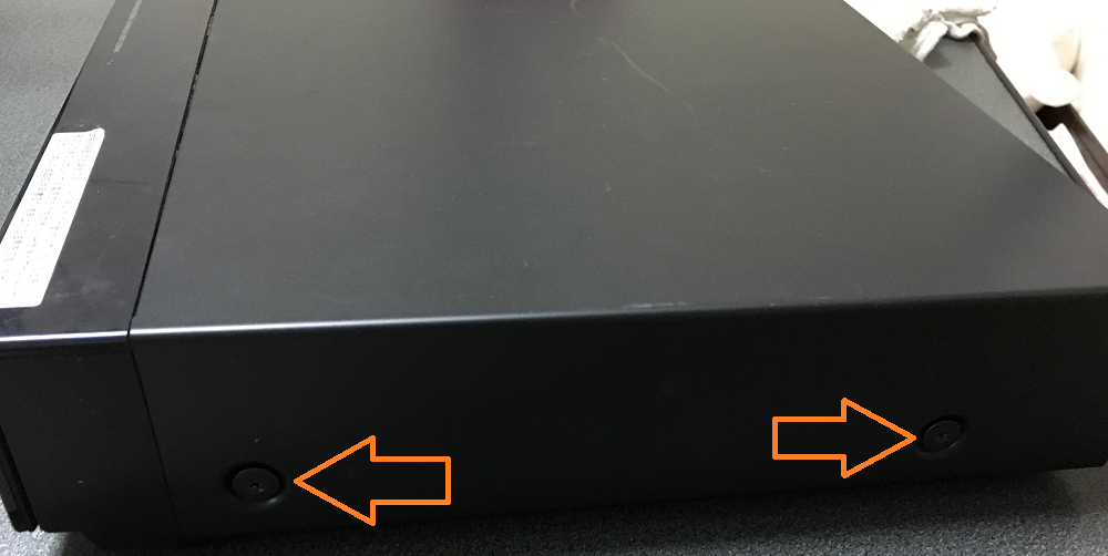 ソニー  ブルーレイレコーダー(BDZ-T55)の分解とハードディスク、ドライブ取り外し方法