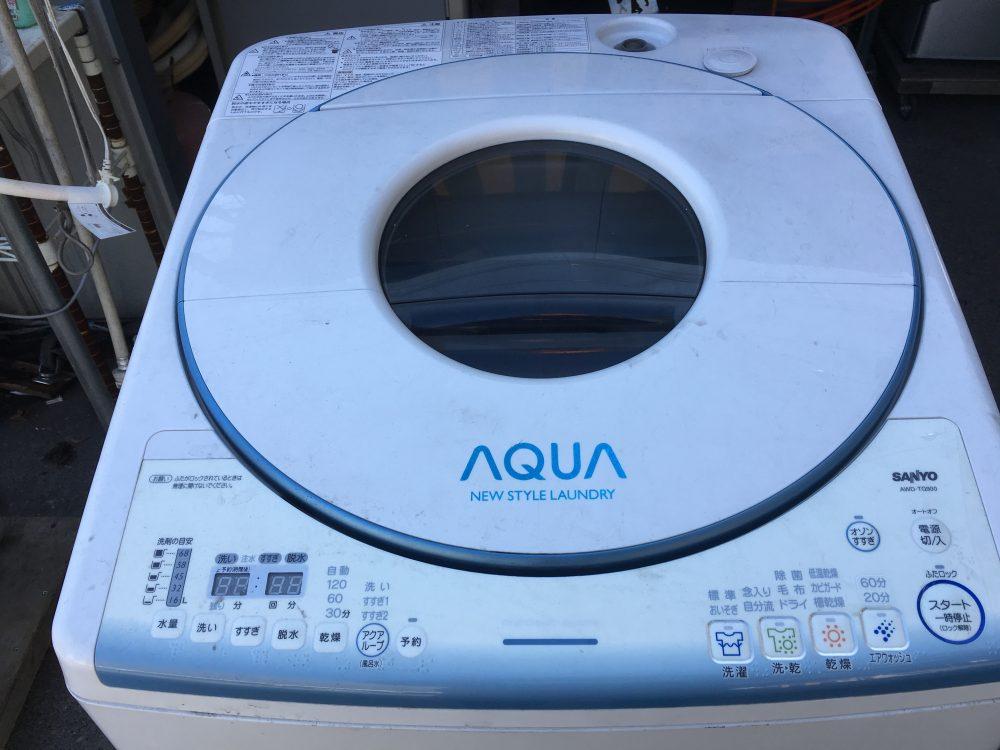 サンヨーアクア(AWD-TQ900) 9k乾燥付き洗濯機の分解と洗濯槽の掃除