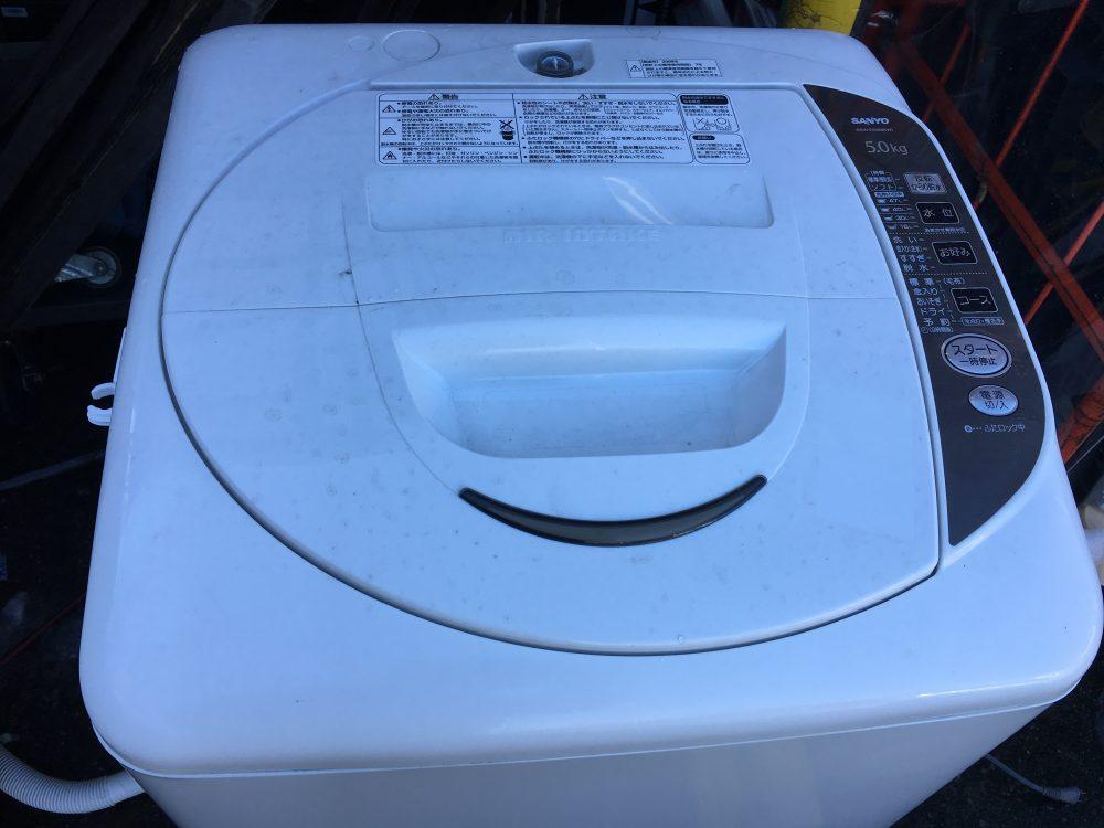 自宅でも出来る!サンヨー5kg洗濯機(ASW-EG50B)の分解と洗濯槽の裏側の掃除