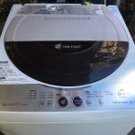 シャープ5.5kg洗濯機(ES-FG55J)分解、洗濯槽・パルセーターの掃除