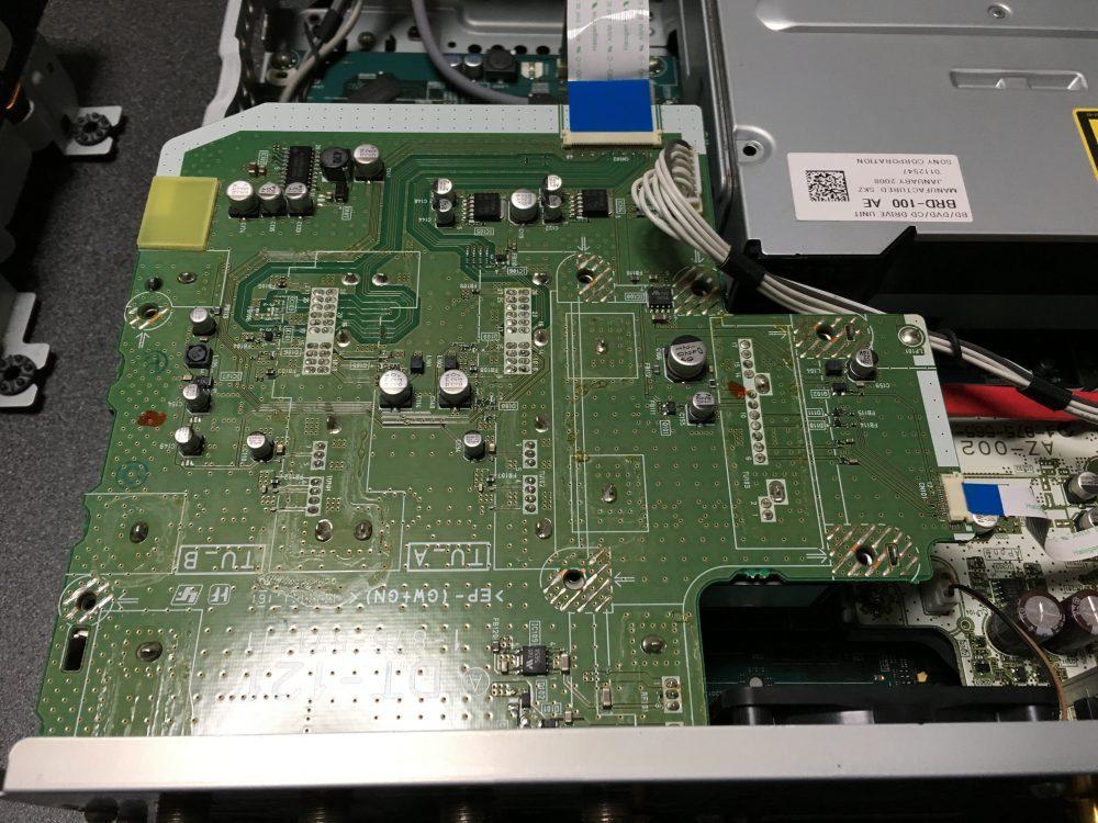 ソニー ブルーレイレコーダBDZ-X90 分解 HDD ドライブ取り外し