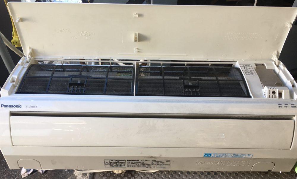 パナソニック家庭用エアコンCS-283CFR 分解、内部洗浄(クリーニング)方法