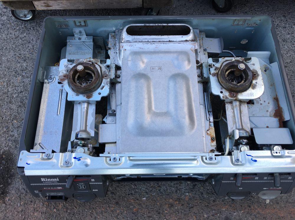 リンナイ ガステーブル RTS-66GS 分解と掃除の方法
