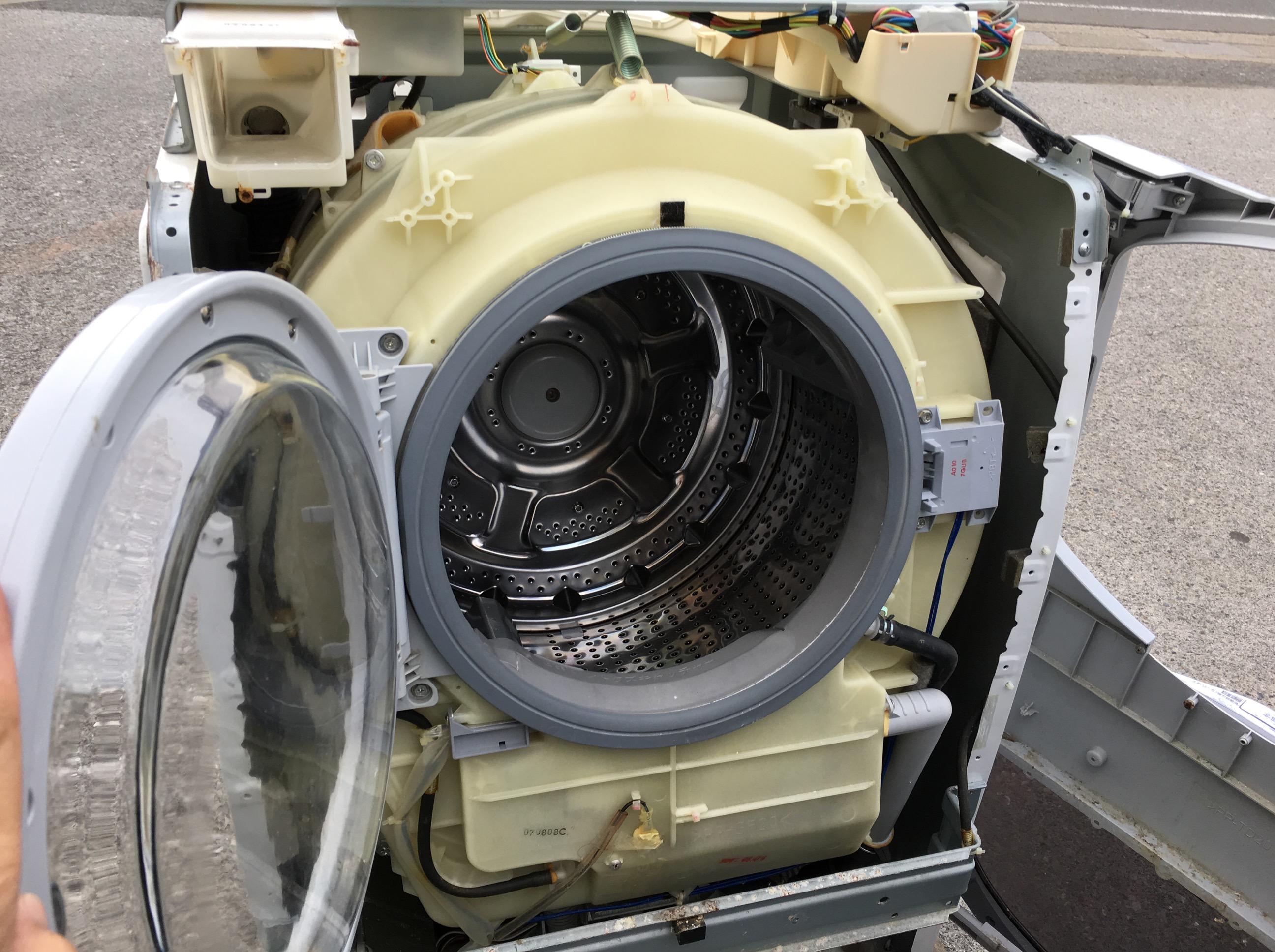 シャープ ドラム洗濯機(ES-HG92G)分解と洗濯槽のカビ掃除に挑戦
