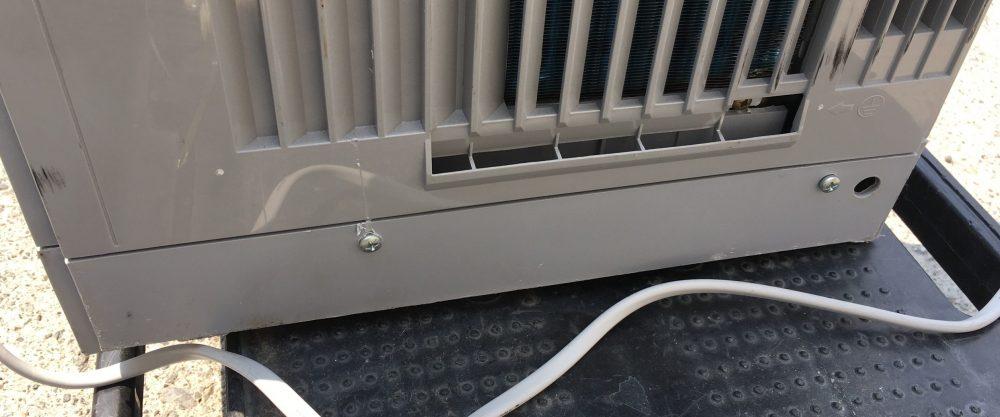 ハイアール 窓用エアコン(JA-18M) 自分(DIY)で分解とシロッコファンを掃除する方法