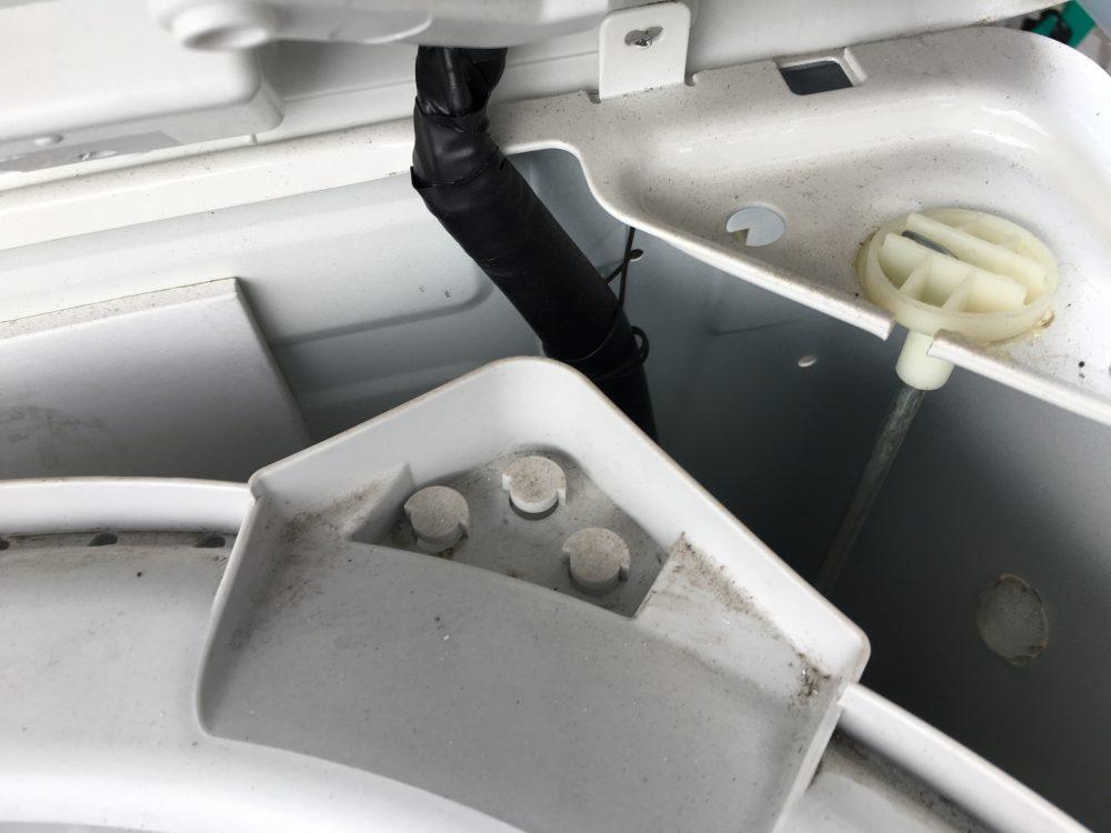 アクア6kg縦型洗濯機(AQW-S60B)の分解と洗濯槽の掃除