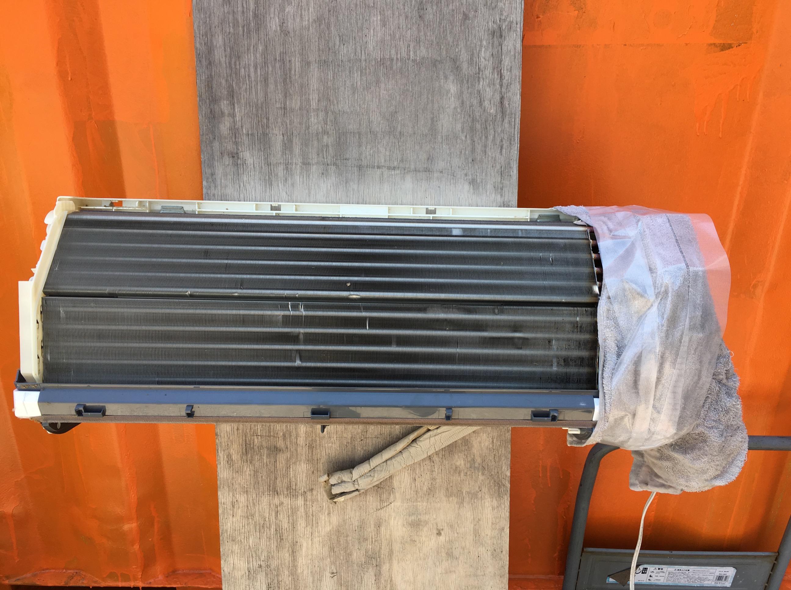 【エアコンクリーニング】三菱エアコン(MSZ-GM222)分解・掃除