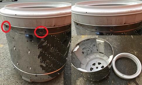 パナソニック洗濯機(NA-FA90H2)分解と洗濯槽の掃除の方法