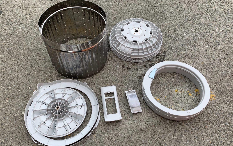ハイアール 5.5kg 洗濯機 JW-C55Aの分解と洗濯槽の掃除方法