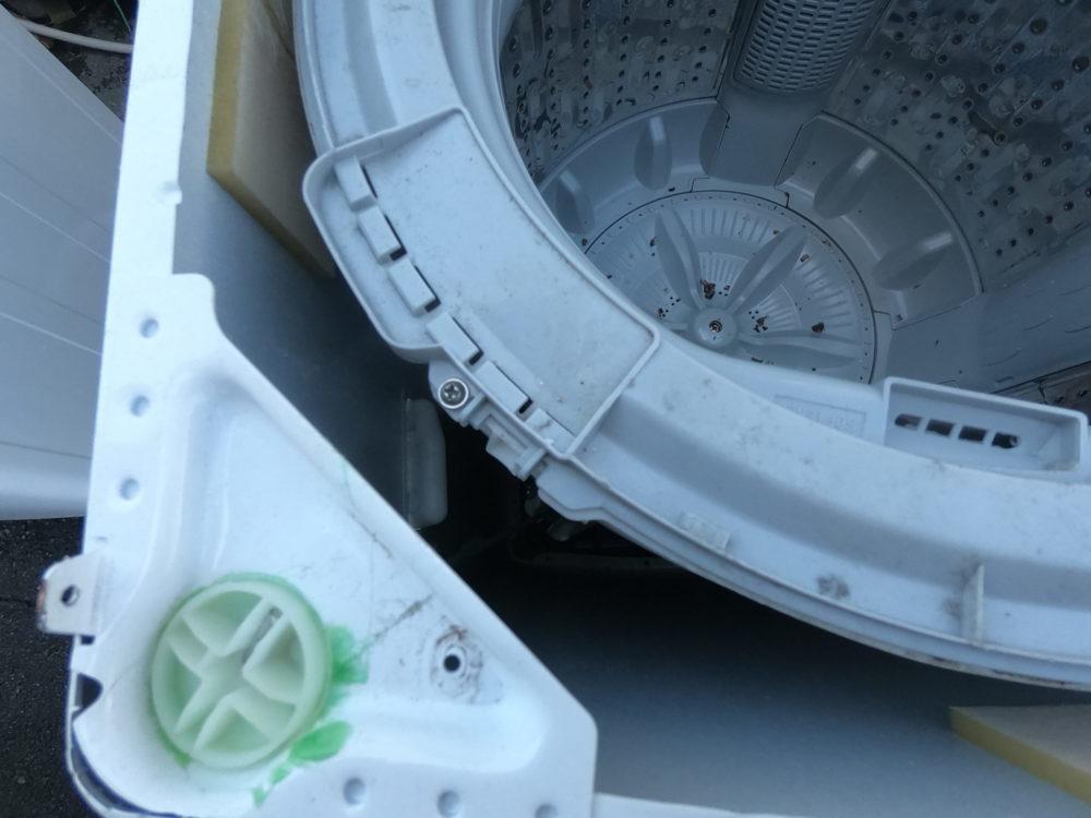 【トクナ外しの方法】フィフティ ピュアニティ 5kg 洗濯機 SEN-FS50-WH 分解掃除