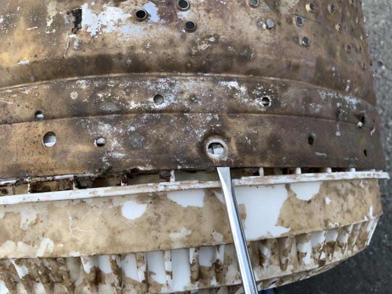 東芝 洗濯機7kg「AW-7DE4」分解 洗濯槽を取り外して掃除をする方法