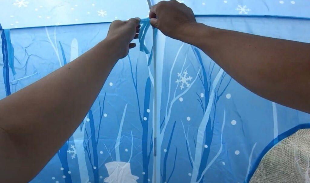 LEDで光る子供用テントをレビュー!室内で使ってもOK【Eva Stone ES11】